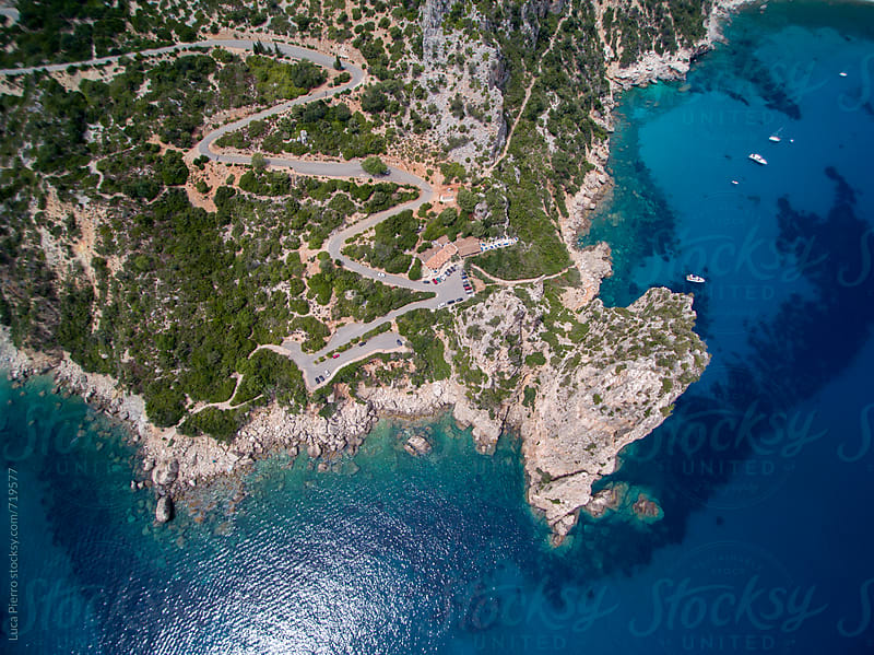 Aerial view of Perda Longa, Sardinia, Italy by Luca Pierro for Stocksy United