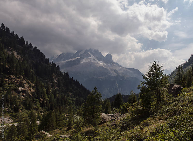 Mountain vista in the French Alps by Neil Warburton for Stocksy United