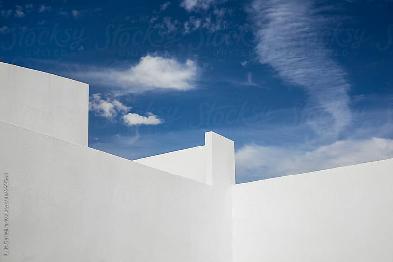 White wall by Luis Cerdeira for Stocksy United