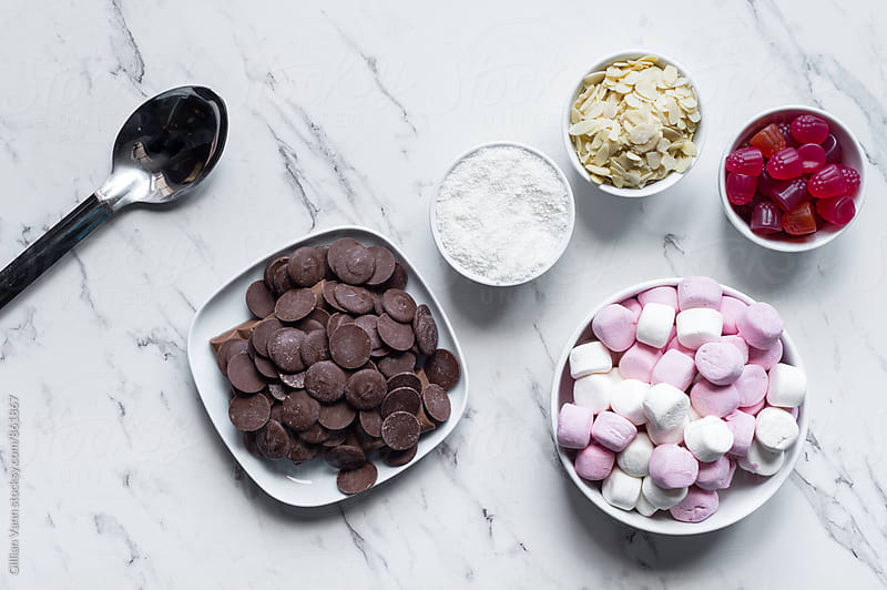 making rocky road by Gillian Vann for Stocksy United