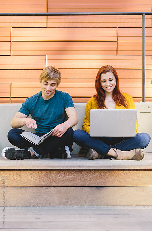 Young Students Studying by Jayme Burrows for Stocksy United