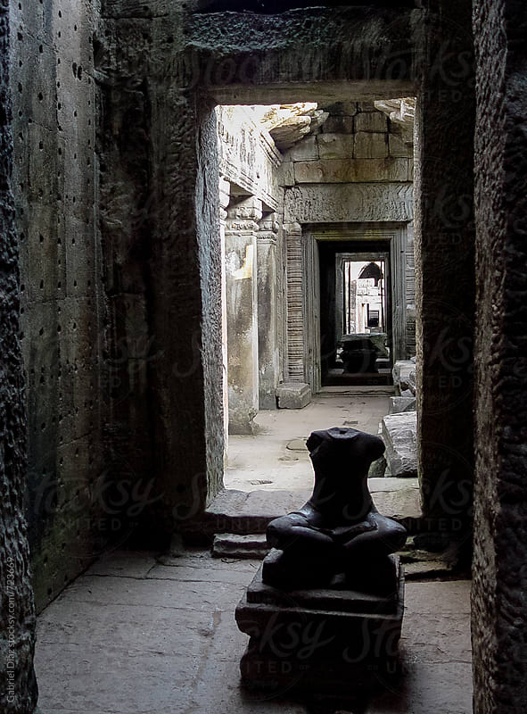 Sculptures in Angkor Wat, Siemreap, Khmer Republic. by Gabriel Diaz for Stocksy United