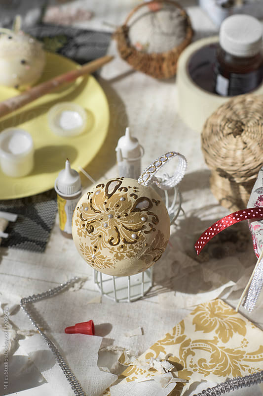 Making Christmas Decorations by Milles Studio for Stocksy United