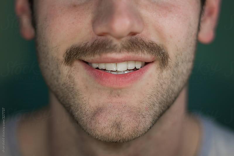 mans mustache  by shan dodd for Stocksy United