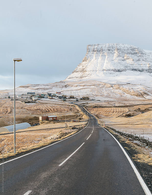 Road to Gasadalur, Faroe Islands by Kevin Faingnaert for Stocksy United