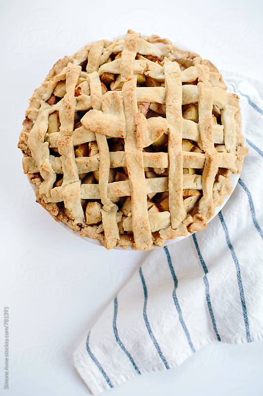 Baked apple pie by Simone Anne for Stocksy United