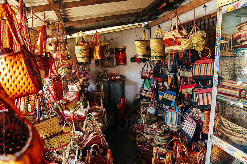 A local basket shop in Sri Lanka by Murtaza Daud for Stocksy United