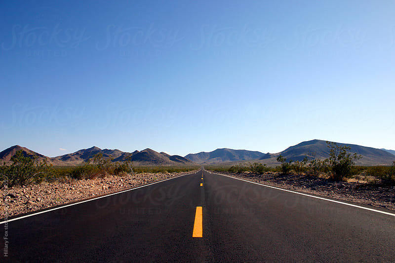 The Road Into Death Valley by Hillary Fox for Stocksy United