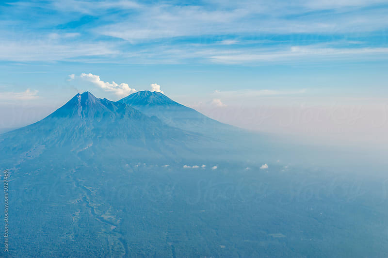 Top view at volcanos of Java island by Sasha Evory for Stocksy United