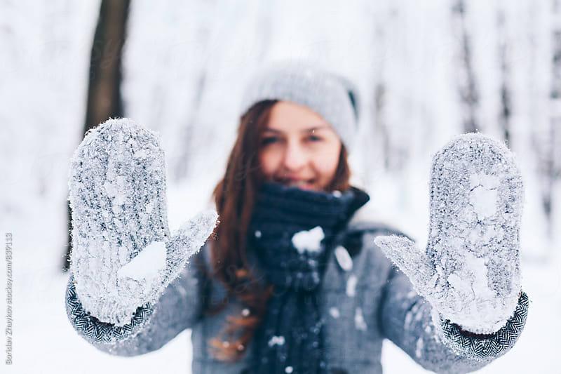 Winter gloves by Borislav Zhuykov for Stocksy United