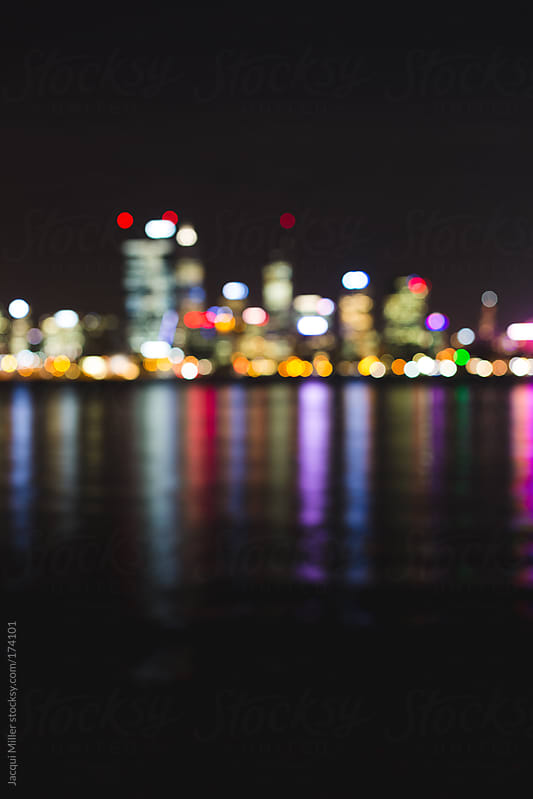 City at night by Jacqui Miller for Stocksy United