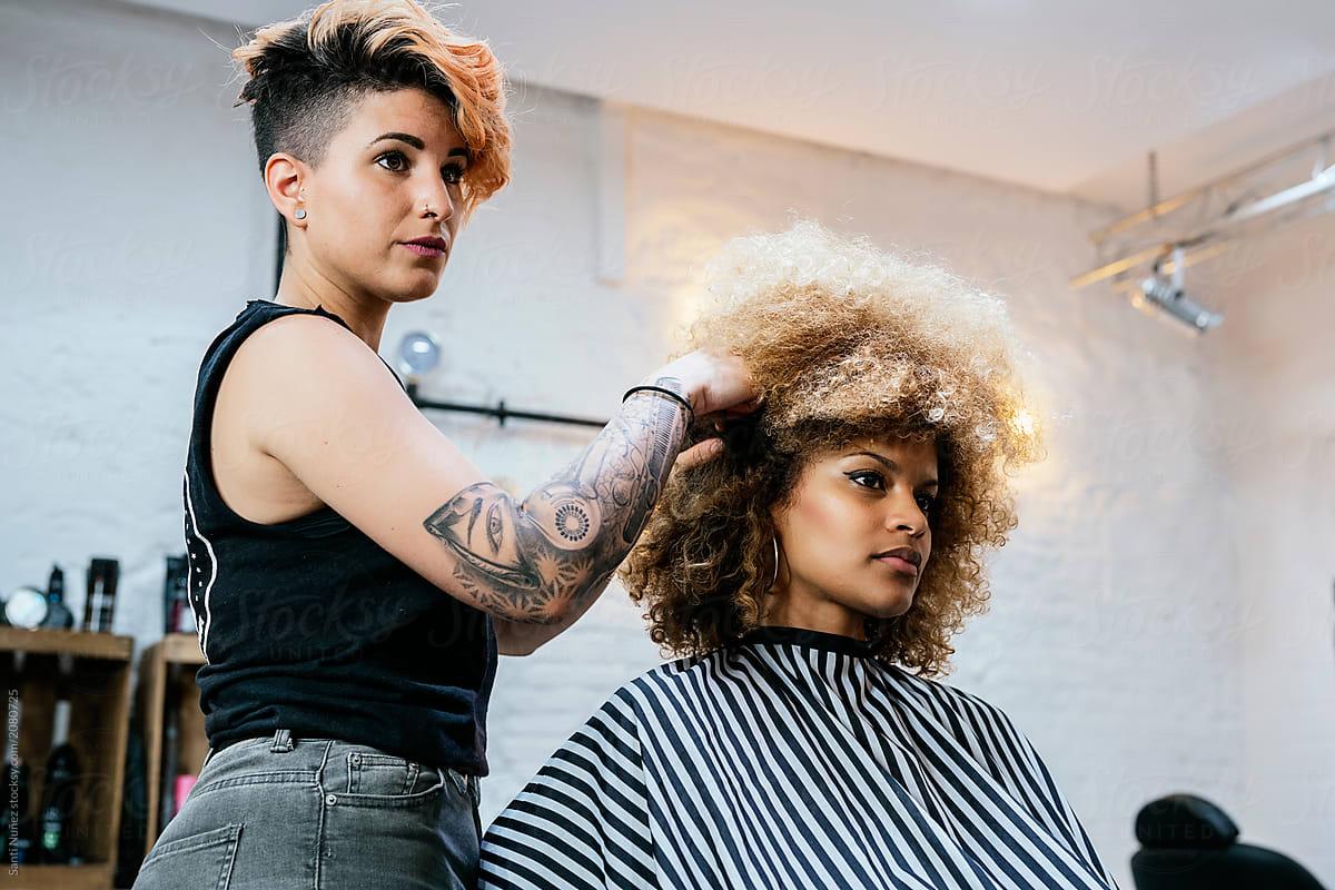 Getting A Haircut 64
