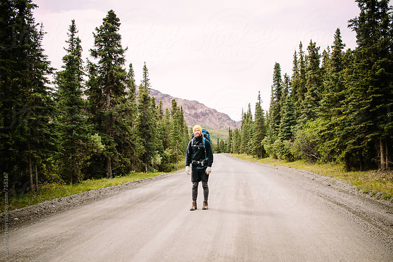 Denali Backpacker by Luke Mattson for Stocksy United
