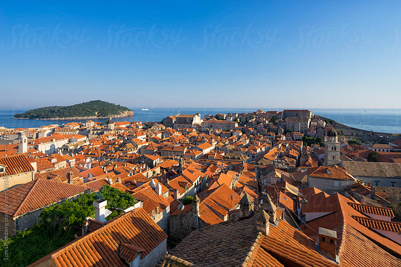 Dubrovnik Cityscape in Warm, Late Afternoon Light, Croatia, Europe by Tom Uhlenberg for Stocksy United