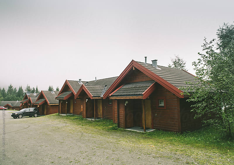 Norwegian Cabins by VICTOR TORRES for Stocksy United