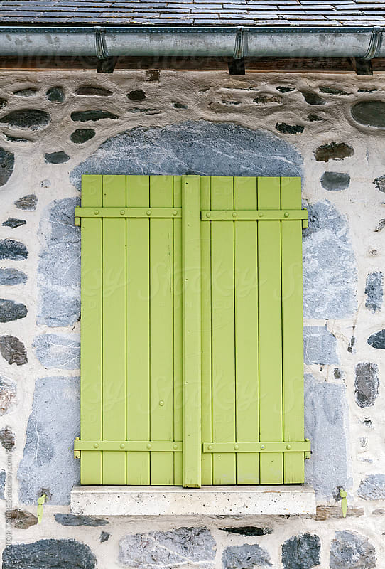 Antique Rural Green Wooden Window by VICTOR TORRES for Stocksy United