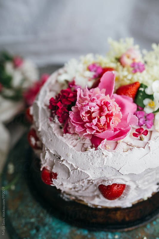 Flowery Cake by Marija Savic for Stocksy United
