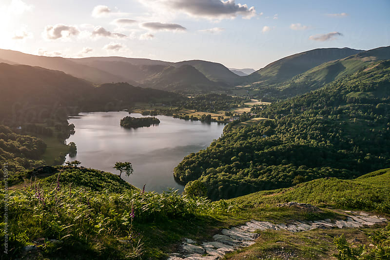 Idyllic Lake Grasmere in the British Lake District by Andreas Wonisch for Stocksy United