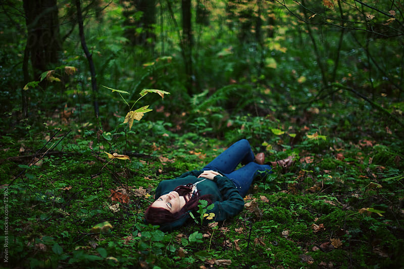 Sleeping Forest Woman by Kevin Russ for Stocksy United