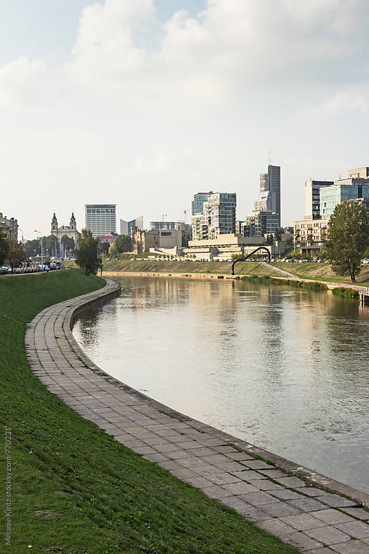 View to Vilnius' modern town by Melanie Kintz for Stocksy United