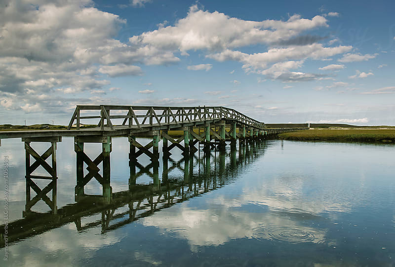 Sandwich Boardwalk on Cape Cod  by Raymond Forbes LLC for Stocksy United