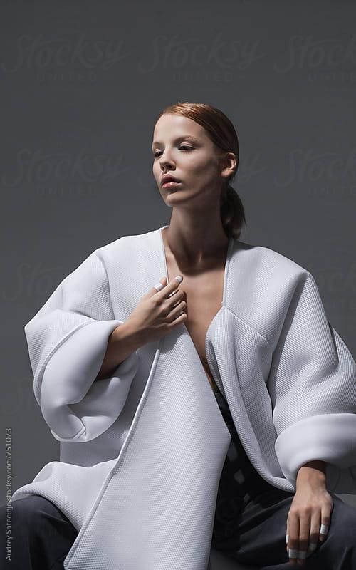 Conceptual fashion/fine art portrait of model by Marko Milanovic for Stocksy United