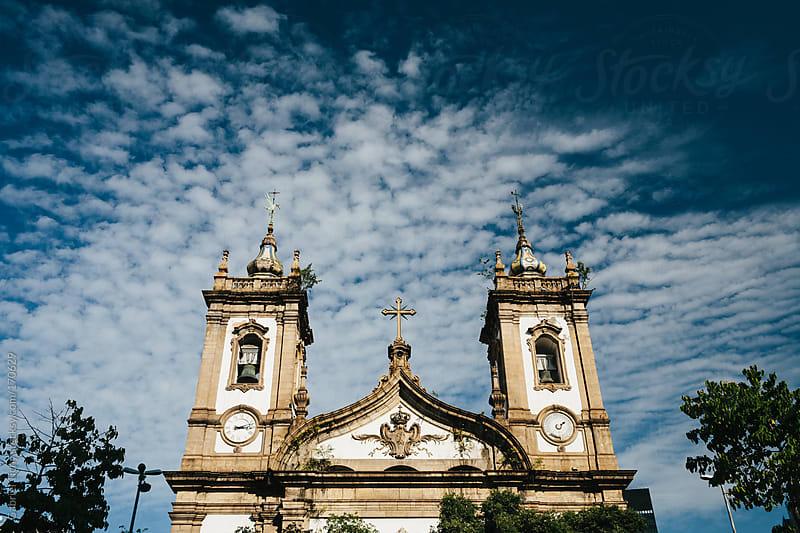Church in central Rio by Gabriel Tichy for Stocksy United