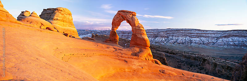 Delicate Arch, Arches National Park, Moab, Utah, United States of America by Gavin Hellier for Stocksy United