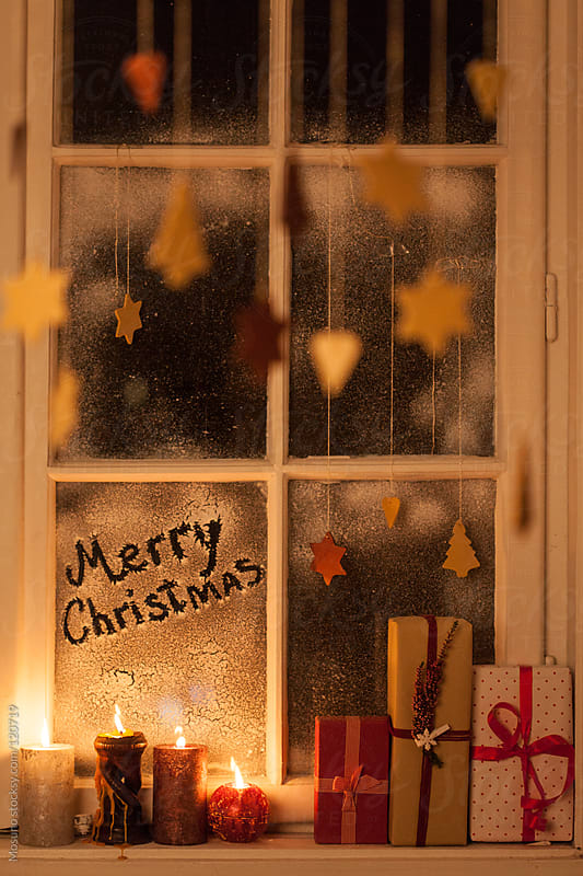 Christmas Decoration on the Window by Mosuno for Stocksy United