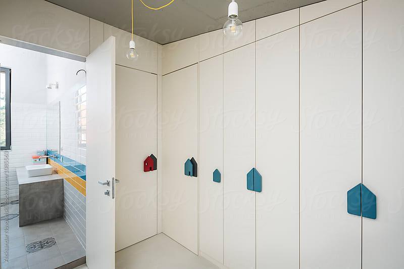 Vestibule in contemporary interior by Aleksandar Novoselski for Stocksy United