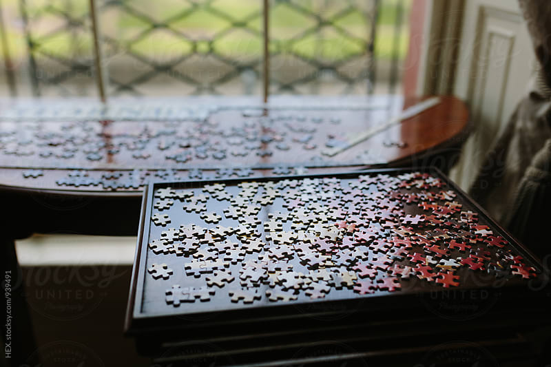 Jigsaw Puzzle on a Table by HEX. for Stocksy United