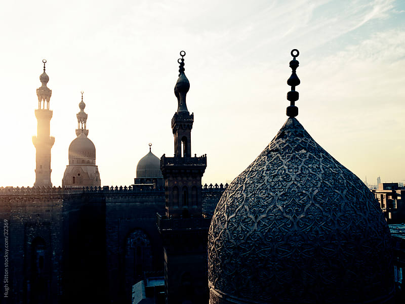 Minarets at sunset. Cairo. Egypt. by Hugh Sitton for Stocksy United