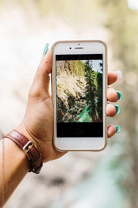 Mobile Photography in nature by Kristen Curette Hines for Stocksy United