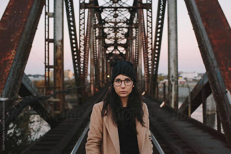 Girl on Train Tracks by luke + mallory leasure for Stocksy United