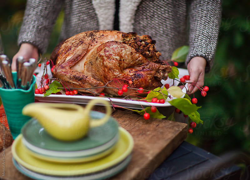 Thanksgiving  Roast Turkey by Mental Art + Design for Stocksy United