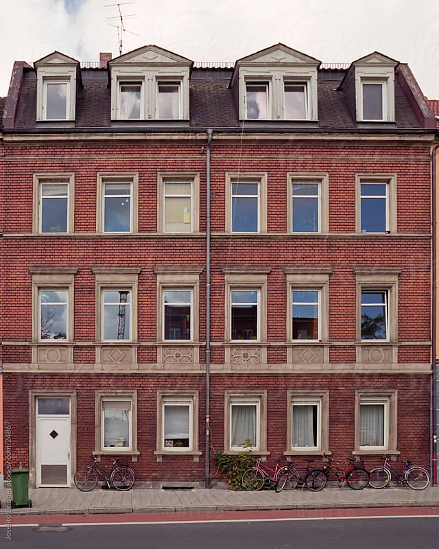 Typical Residential Building in an Old Town in Germany by Joselito Briones for Stocksy United