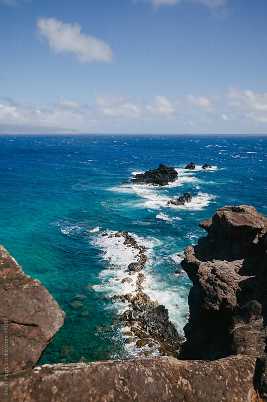 Rocky shore line of Hawaii by Shelly Perry for Stocksy United
