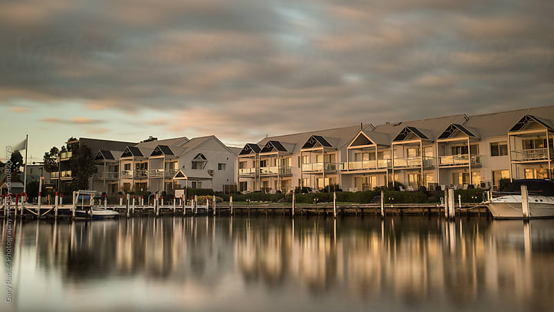 Apartment Blocks on Bancroft Bay, Metung by Gary Radler Photography for Stocksy United