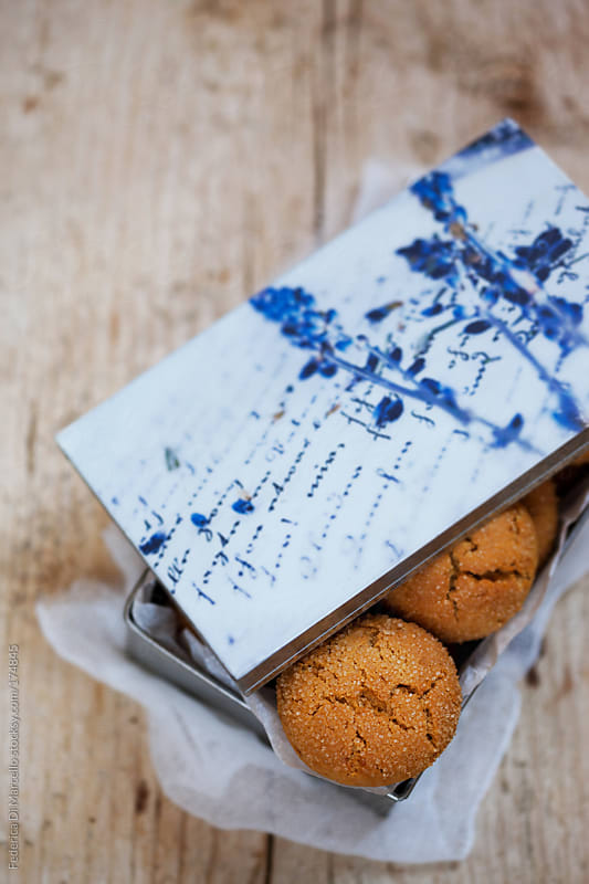 Milk and honey cookies by Federica Di Marcello for Stocksy United