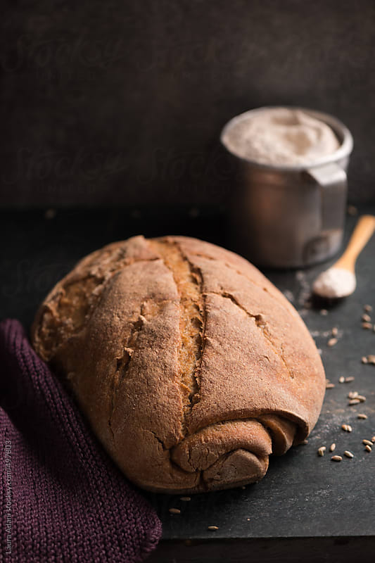 Sourdough rye bread by Laura Adani for Stocksy United