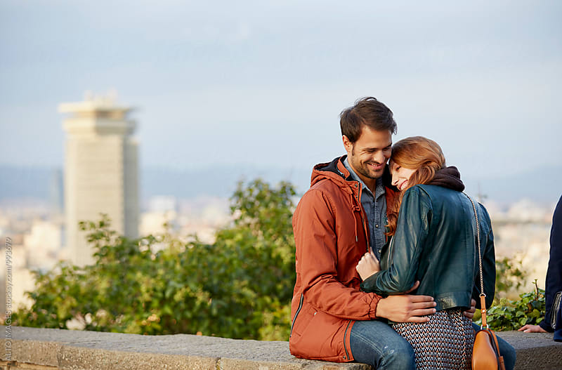 Loving Couple Embracing At Observation Point by ALTO IMAGES for Stocksy United