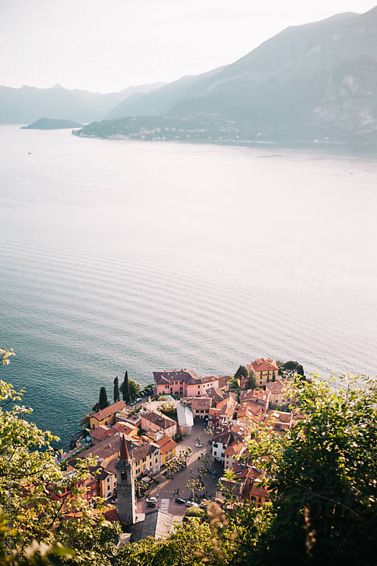 Varenna, Italy from above by Giada Canu for Stocksy United