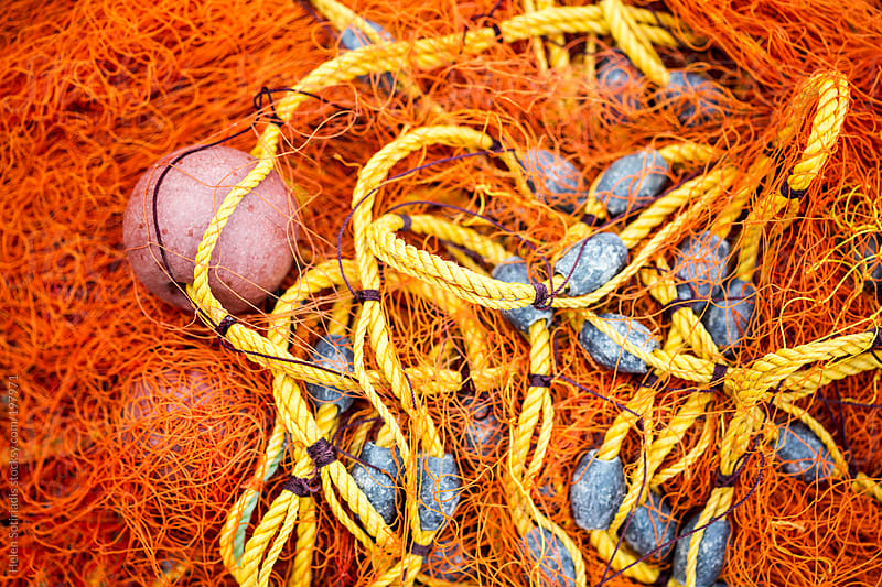 Brightly Colored Fishing Net by Helen Sotiriadis for Stocksy United