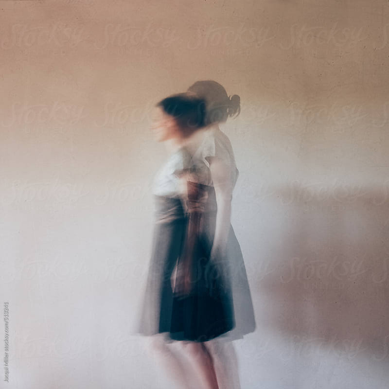 Double exposure of woman wearing a dress. Textured, art image. by Jacqui Miller for Stocksy United