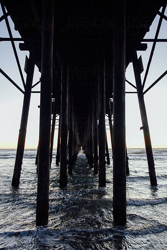 Under Pier by Jesse Weinberg for Stocksy United