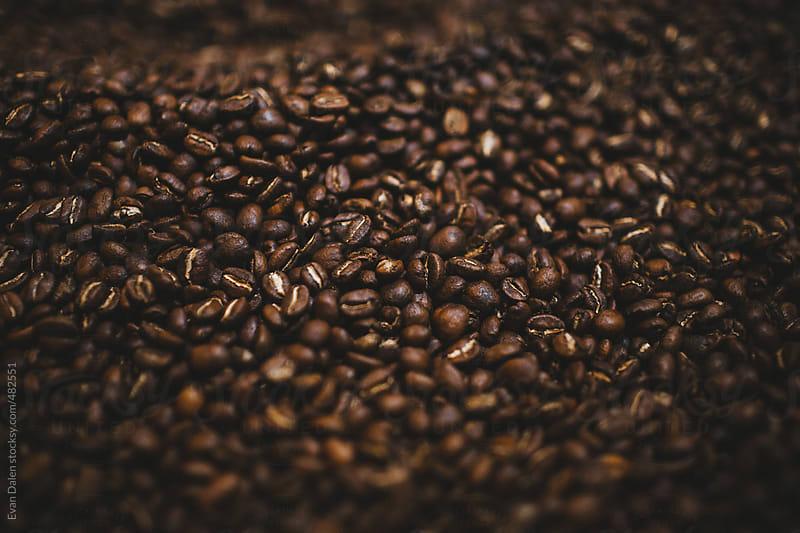 Coffee Beans Roasting by Evan Dalen for Stocksy United