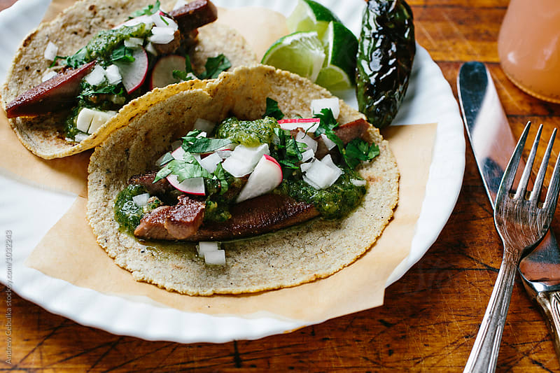 Tongue Tacos by Andrew Cebulka for Stocksy United