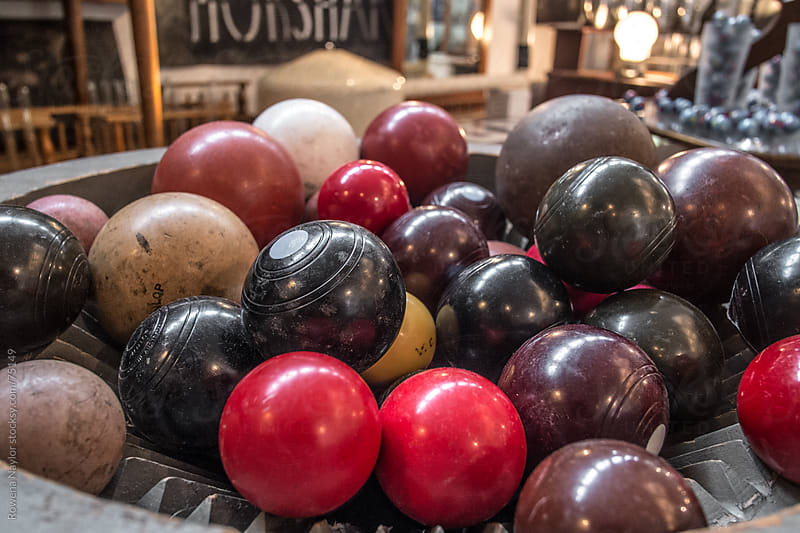 Collection of Old Lawn Bowling Balls by Rowena Naylor for Stocksy United