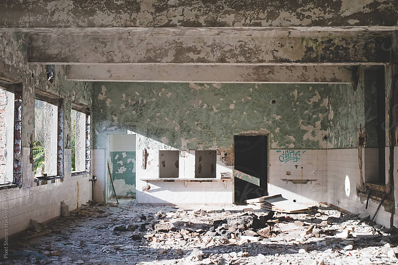 Derelict building interior by Pixel Stories for Stocksy United