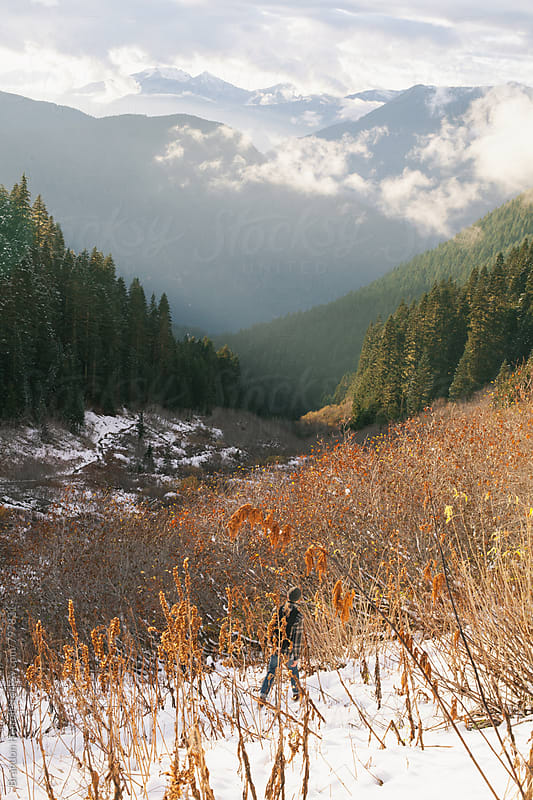 The Valley Below. by Brandon Herrell for Stocksy United